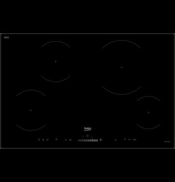 BEKO HII84501HT table de cuisson à induction - 80cm