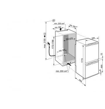 LIEBHERR BI ICN338621 koel-/vriescombinatie - 178cm