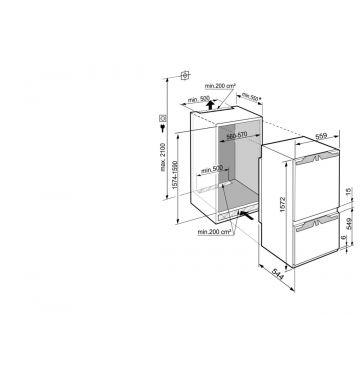 LIEBHERR BI ICP292421 koel-/vriescombinatie - 158cm